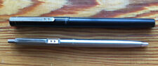 "Vintage ""PAPER MATE"" Two Hearts Brushed Steel Ballpoint Pen and Fountain Pen"
