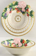 """Fitz & Floyd Strawberries & Roses 7"""" Candy Bowl 11911101"""