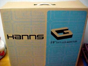 "Hanns.G HW191DPB 19"" Widescreen LCD Monitor New In Box Complete"