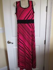 NWT - APT. 9 Pink & Black striped maxi dress - MSRP $50. - sz PL