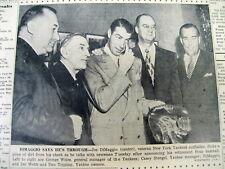 2 1951 newspapers JOE DiMAGGIO plays in his last game & RETIRES from ML BASEBALL