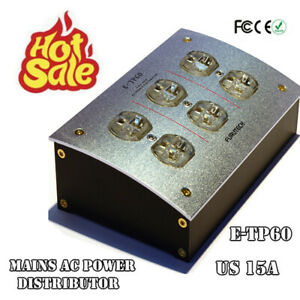 1PCS E-TP60 Mains AC Power Distributor US 15A Gold Plated Audio Grade Receptacle