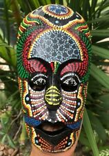 Mask Aboriginal Tiki Art Tribal Jungle African Hand Carved Paint Wood Hang Wall