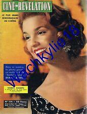 Ciné-Révélation n°114 /1956 Karen Sharpe Yves Vincent Martine Carol Karen Sharpe