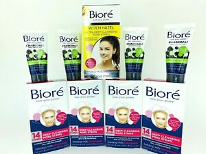 Biore Deep Cleansing Pore Strips COMBO 34 Nose Strip 28 Face Strips 4 Charcoal