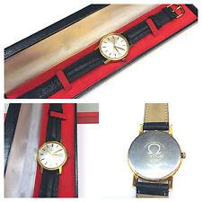 Omega Reloj Cuerda manual De Hombre Pulsera Funcional Con cuero