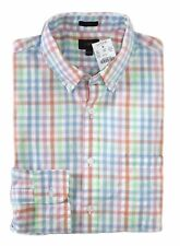 J Crew Factory - Men's S - Slim Fit - Rainbow Gingham Plaid Washed Cotton Shirt