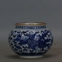 Chinese Old Marked Blue and White Phoenix Pattern Porcelain Jar