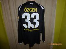 Alemannia Aachen nike manga larga saliente matchworn camiseta 09/10 + nº 33 Özgen talla XL