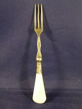 Mother of Pearl Handled Fork with Sterling Band