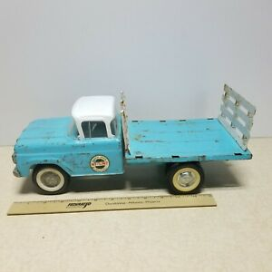 Toy Ny-Lint Ford Flatbed Stake Farm Delivery Pickup Truck #4500 Pressed Steel