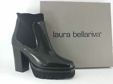 I16-lb17 scarpe donna 39 stivaletti LAURA BELLARIVA nero LUXURY ITALIAN SHOES