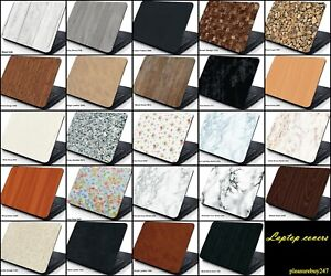 Laptop Skin Cover Sticker Decal Protector Marble Leather Effect Various Sizes
