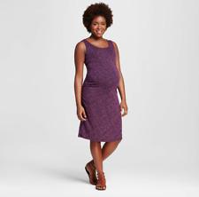 cb80a3a7999c6 Liz Lange Maternity Tank Dress Spacedye Fuschia purple Sleeveless Stretch  XXL