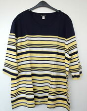 Plus Cotton Blend Striped Tops & Blouses for Women
