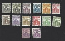 TUNISIA 1923 CARTHAGINIAN STATUE. SET OF 14 POSTAGE DUE STAMPS, CAT £16+, MH
