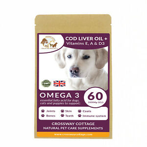 Omega 3 For Dogs, Eczema in Dogs, Skin Problems, Natural Skin + Joint Supplement