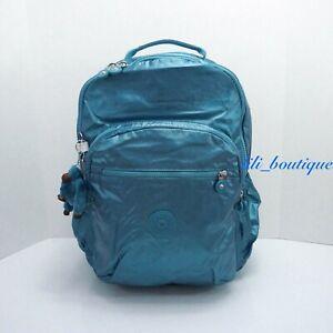 NWT Kipling BP4371 Seoul XL Backpack Laptop Travel Bag Turkish Tile Metallic 144