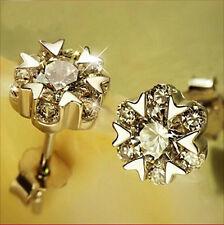 925 Silver Earrings Austrian AAA Crystals Ear Stud Women's Fashion Jewelry