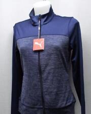 New Ladies SMALL Colorblock full zip jacket Layer peacoat navy