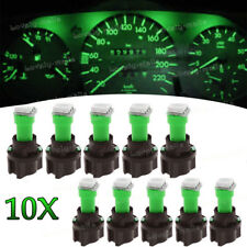Instrument Panel LED Light Bulbs PC74 T5 Twist Lock Sockets Green KIT For Ford