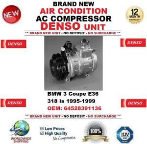 DENSO AIR CONDITION AC COMPRESSOR BMW 3 Coupe E36 318 is 1995-1999 64528391136