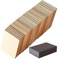 Ruisita 120 Pieces 4 x 4 Inch Square Unfinished Blank Wood Pieces High-Quality