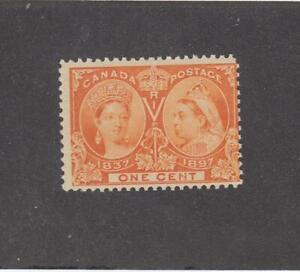CANADA (MK4377)  # 51 F-MNH  1cts  1897 QV DIAMOND JUBILEE /ORANGE CAT VAL $30