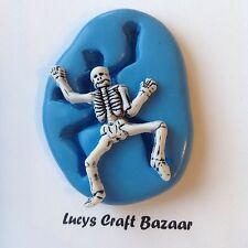 Silicone Mould Skeleton Halloween Bones Spooky Cupcake Topper Sugarcraft Sculpey