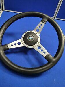 Moto-lita Steering Wheel 3 Spoke Black with BMW Centre Piece And Boss