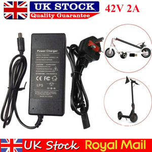 42V Electric Scooter Battery Charger For Xiaomi Mi M365/Pro Es1 2 3 4 UK Adapter