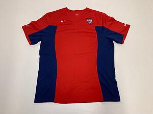 Women's VTG Mia Hamm Nike Dri-Fit Team USA Sz XL 16-18 RED Soccer Jersey USWNT