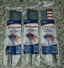 New Annin 3 3-Packs American Flags 9 Mini Us Flags 4x6 Inches Made In Usa Fr/Sh