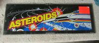 23 5/8-8 1/4 ORIGINAL ATARI ASTEROIDS  PLEXI sign marquee ARCADE  GAME PART FL-3