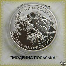LARIX  POLONICA RACIB Ukraine Silver Proof 1 Oz 10 UAH  2001 Flora Coin KM# 141