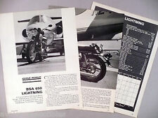 BSA 650 Lightning Motorcycle Review MAGAZINE ARTICLE - 1970