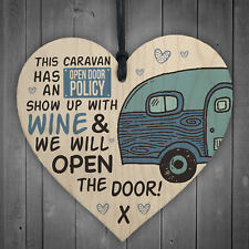 caravan.camper Engraved plaque.Sign Camping Gift Fun Home is where you park it