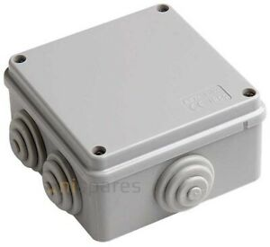Junction Box Case IP65 Weatherproof 100x100x50mm for Outdoor Electric CCTV Cable