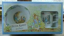 PETER RABBIT WEDGWOOD CHRISTENING BOXED SET,