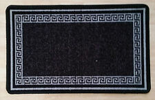 Non Slip Rug Carpet Runner Mat Hall Door Machine Washable Large All Floors 6 Black Grey 50cmx80cm