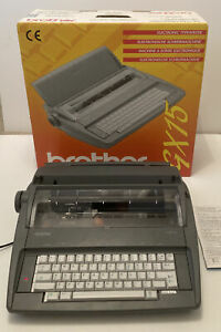Brother GX-15 Electronic Typewriter With Original Box & Instructions Made In Uk