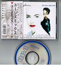 EURYTHMICS We Too Are One JAPAN CD R32P-1212 w/OBI+PS BOOKLET 1989 issue Free SH