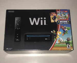 Nintendo Wii New Super Mario Brothers Black Edition System Replacement Empty Box