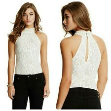 🌸🌸 GUESS BY MARCIANO PEARL BEADS ADI LACE TOP 🌸🌸