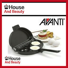 BRAND NEW AVANTI Non-stick Foldable Omelette & Egg Poacher Pan!