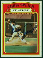 Original Autograph of Chris Speier of the Giants on a 1972 Topps IA Card