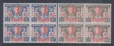 1946 Hong Kong 169a-170a | 174-175 - Peace After WWII - KGVI - Blocks MNH XF*