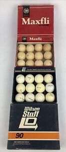 Wilson Staff Vintage Golf Ball Lot of 24 W Original Box - No Reserve Auction