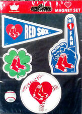 Boston Red Sox 4-Pack Team Magnet Sheet Auto Home Heavy Duty MLB Baseball