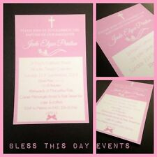 Christening, Baptism Unbranded Greeting Invitations